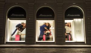 Allestimento vetrine Rinascente Firenze - Vista frontale
