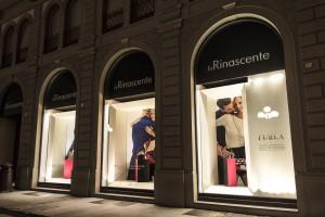 Allestimento vetrine Rinascente Firenze - Vista laterale