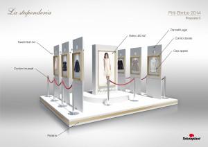 Progettazione stand - Pitti Bimbo Firenze - Proposta creativa