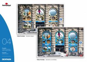 Progettazione vetrine Decathlon - Proposta creativa