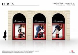 Allestimento vetrine Rinascente Firenze - Tavole Progetto