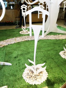Progettazione stand - Pitti Bimbo Firenze - Dettaglio fiori