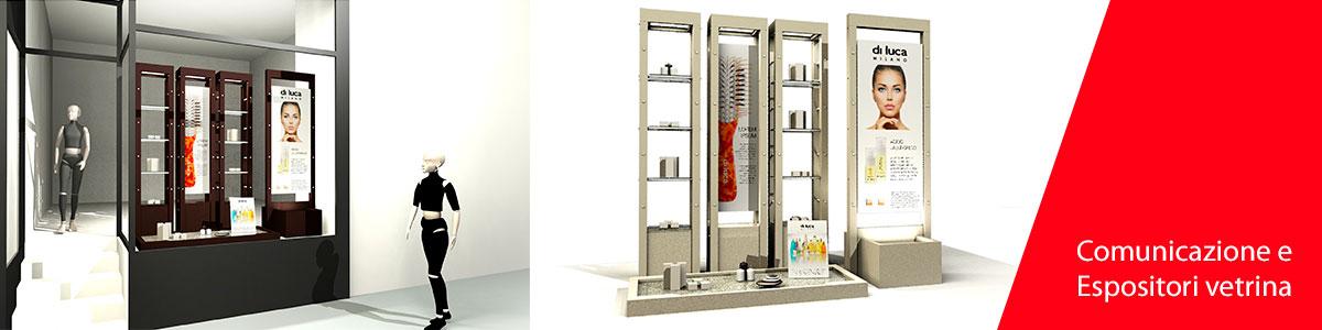 Progettazione e allestimento espositori vetrina